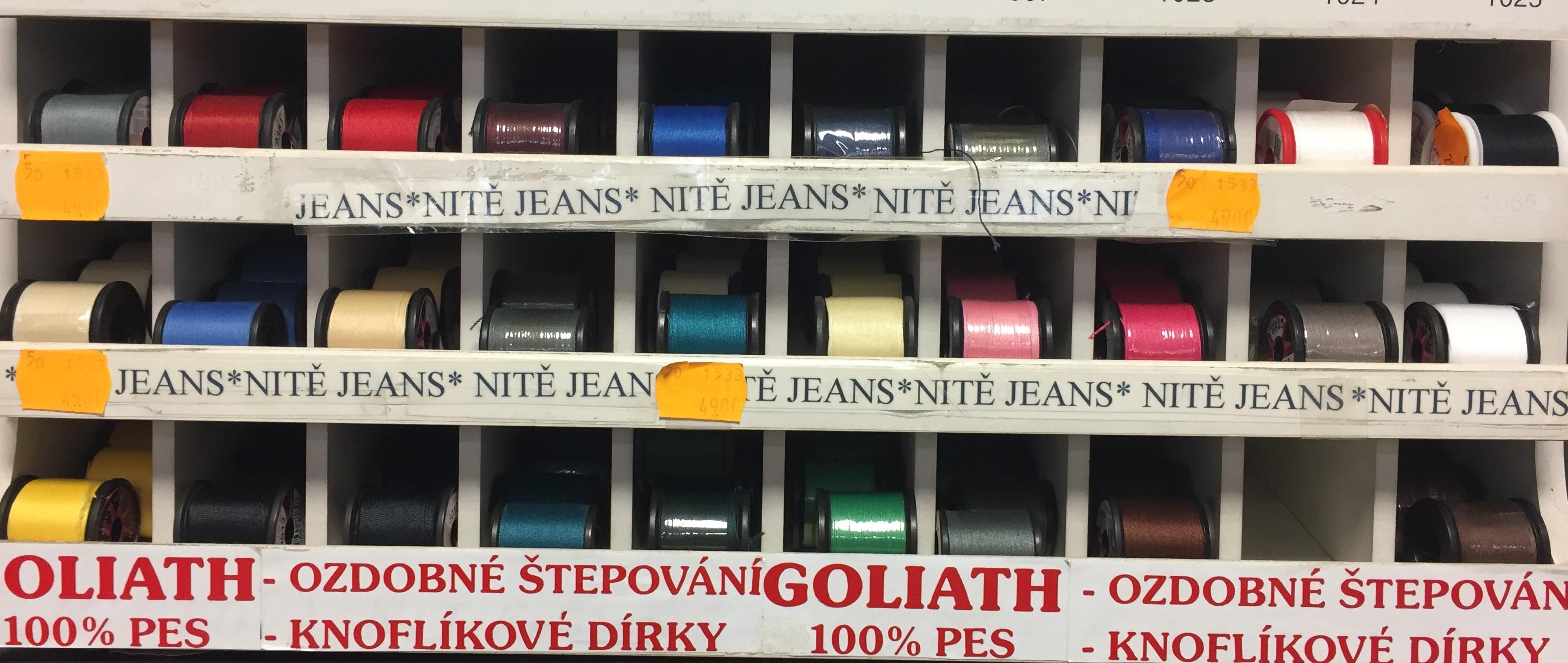 niť na jeans 100%PES GOLIATH 50m