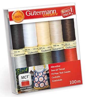 dárkový set nití Gütermann 10x100m 100%polyester