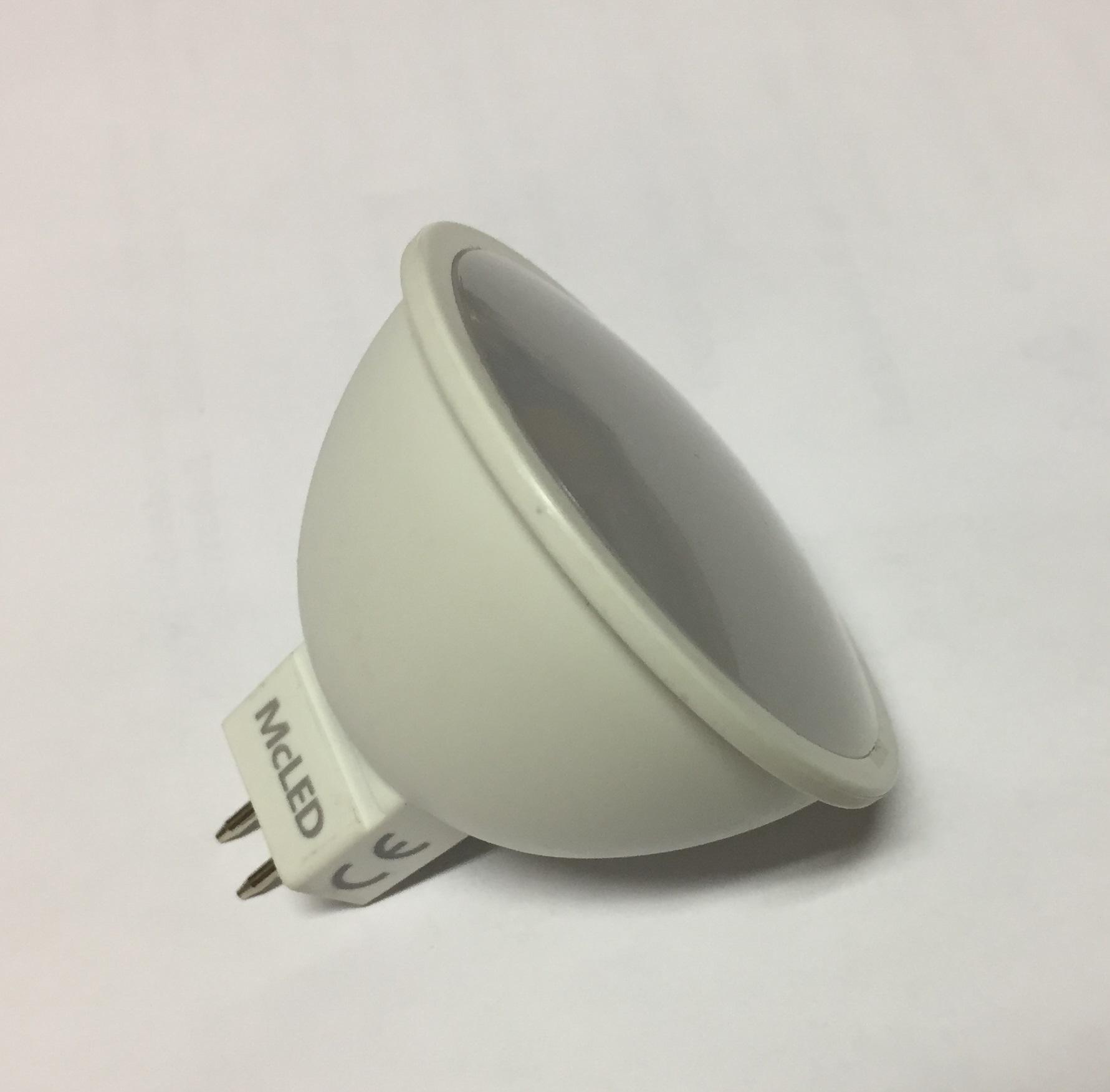 LED žárovka do halogenového svítidla s trafem 12V/4W/3000K, teplá bílá, patice GU5.3, nahrazuje 20W