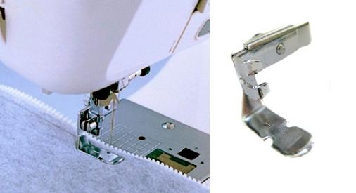 patka na zipy oboustranná úzká F036