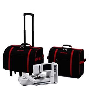 sada kufrů na šicí stroj a modul