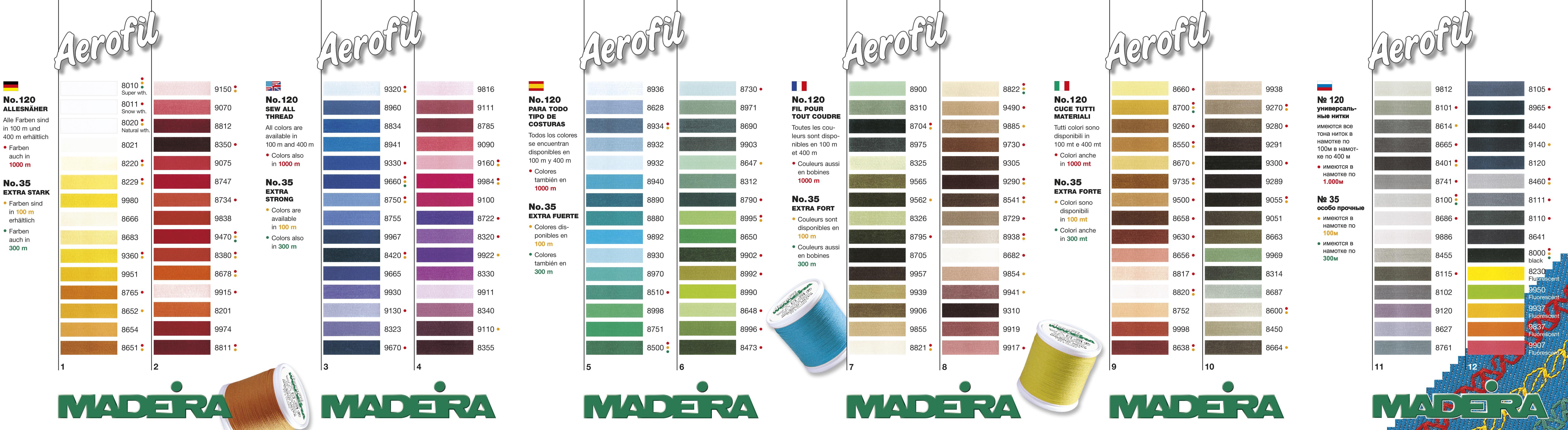 nitě Madeira Aerofil 120 100%PES 1000m-1