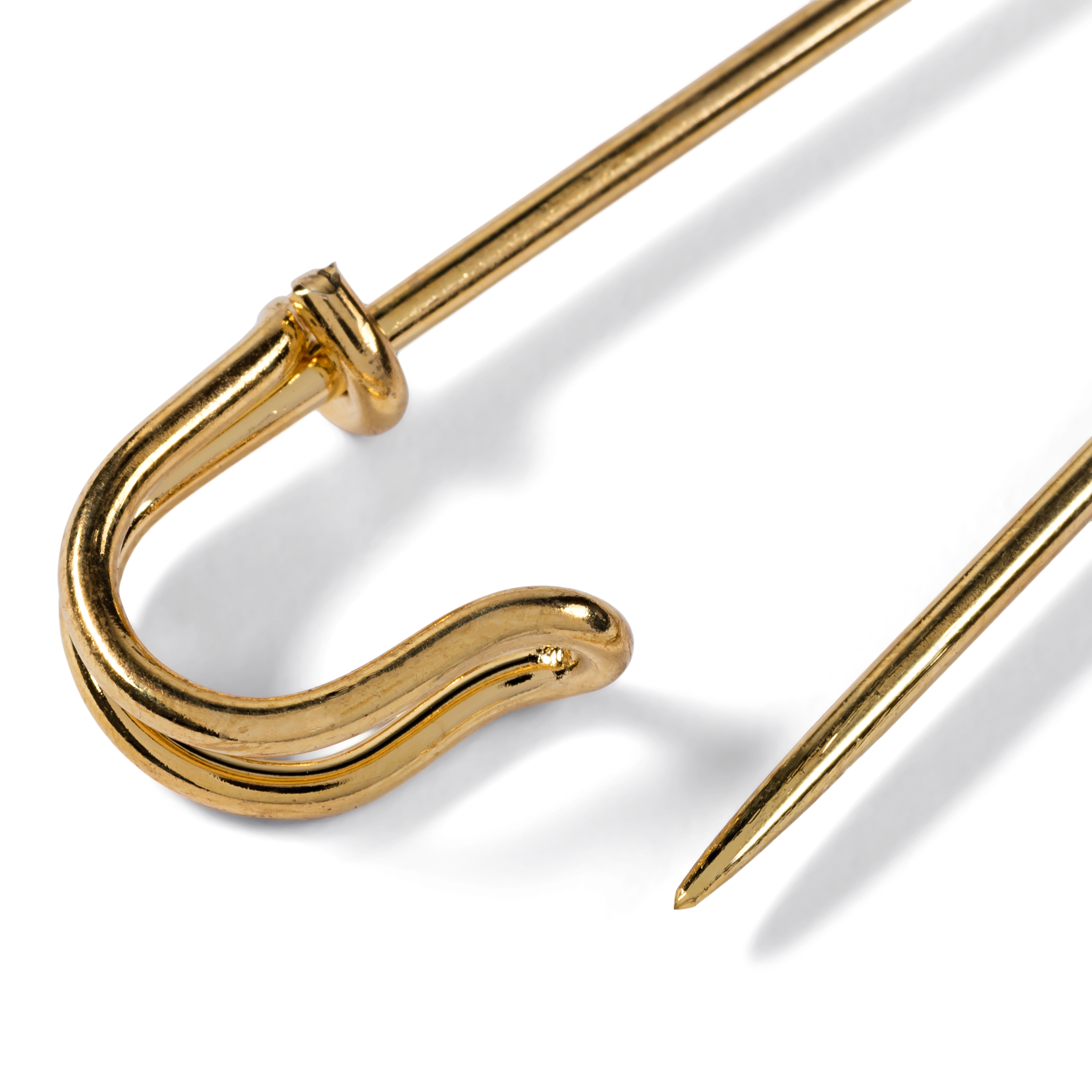 špendlík ozdobný zlatý 76mm 1ks-2