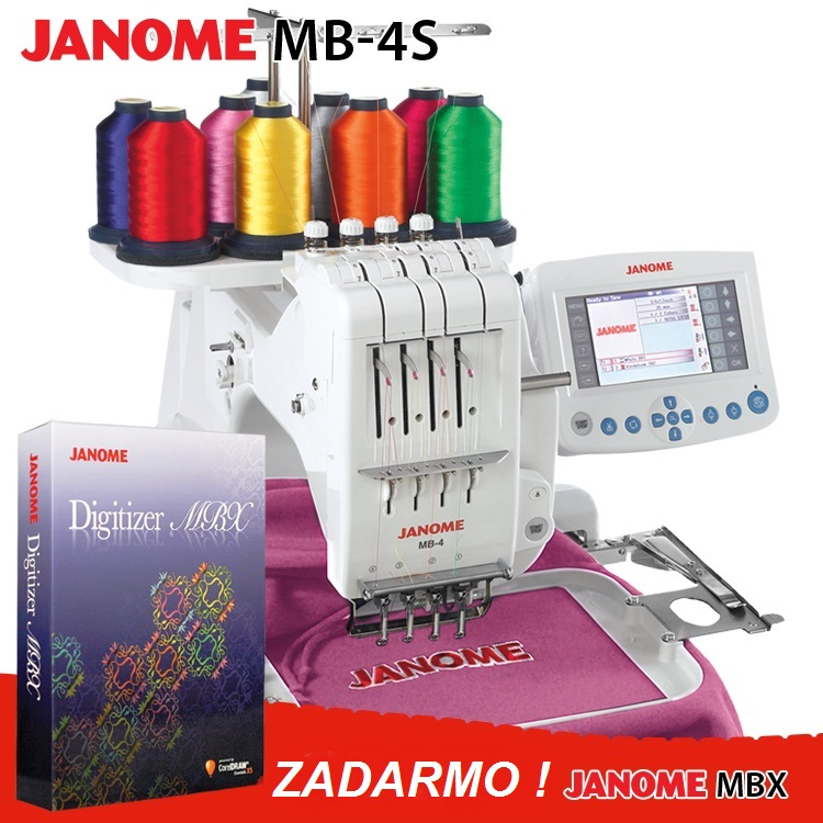 vyšívací stroj Janome MB - 4 S + vyšívací program JANOME Digitizer MBX PROFI COREL ZDARMA-3