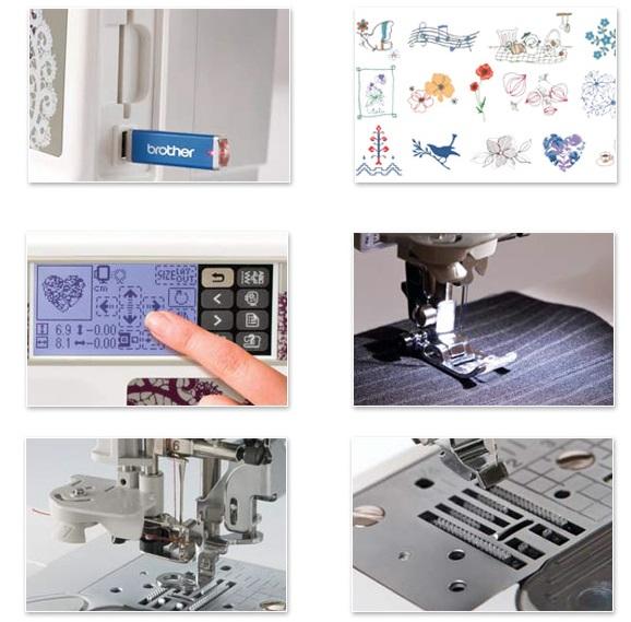 šicí a vyšívací stroj Brother NV 955 + software PeDesign Plus ZDARMA-7