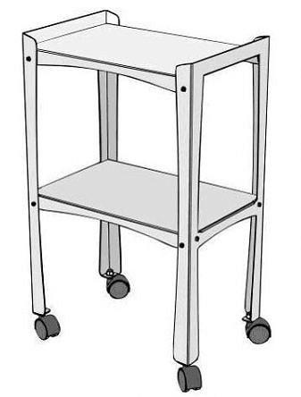 stolek 40x27cm s kolečkama pro vyvíječe páry-2
