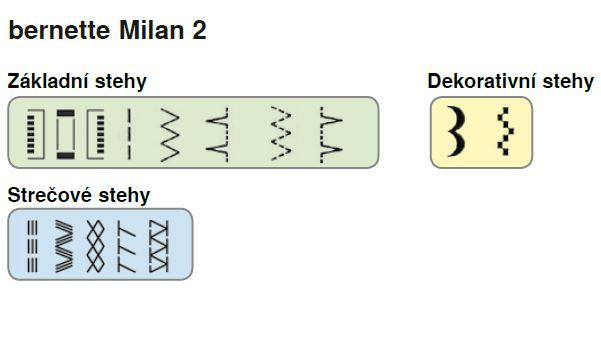 šicí stroj Bernette Milan 2-2