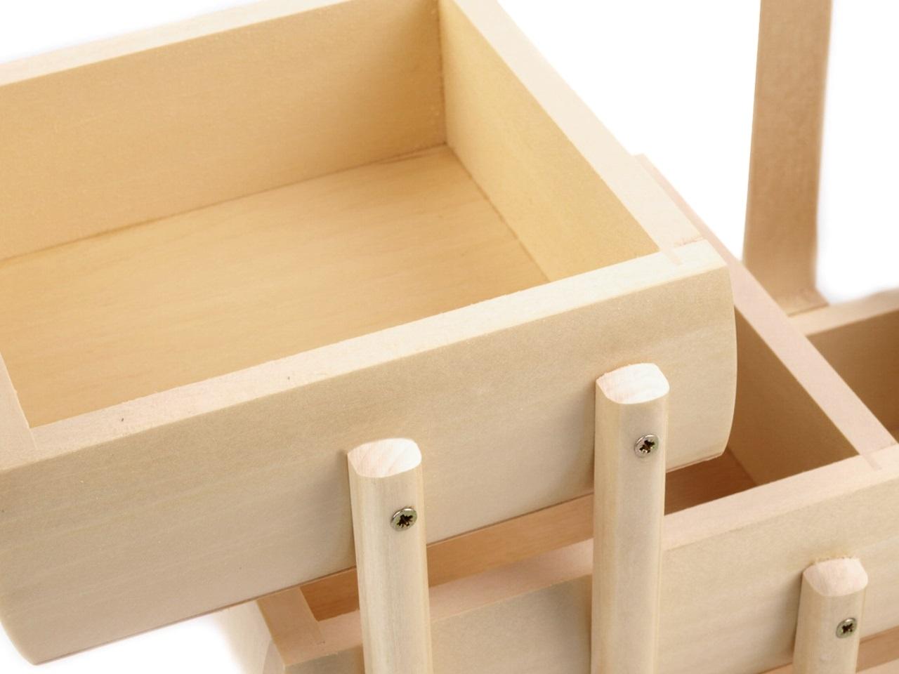 košík na šicí potřeby rozkládací malý,přírodní-1