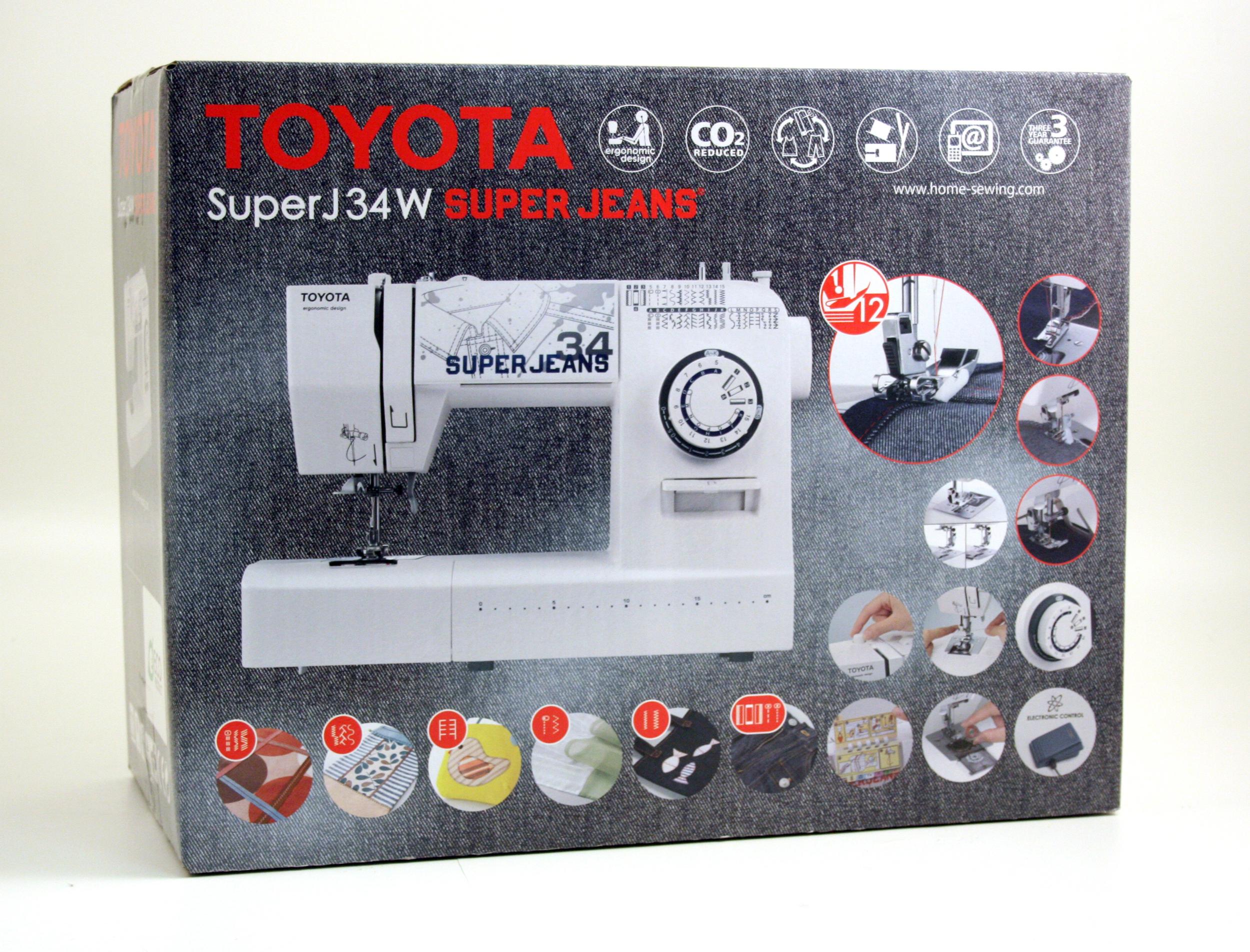 šicí stroj Toyota Super Jeans 34 bílý-6