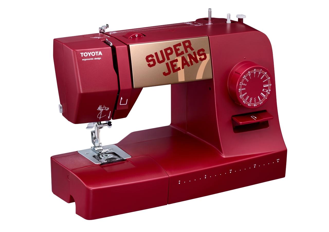 šicí stroj Toyota Super Jeans 17 červená-3
