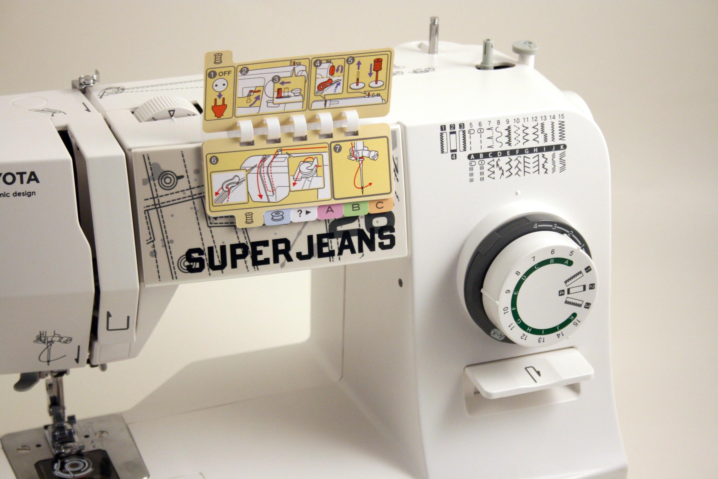 šicí stroj Toyota Super Jeans 26 bílý-3
