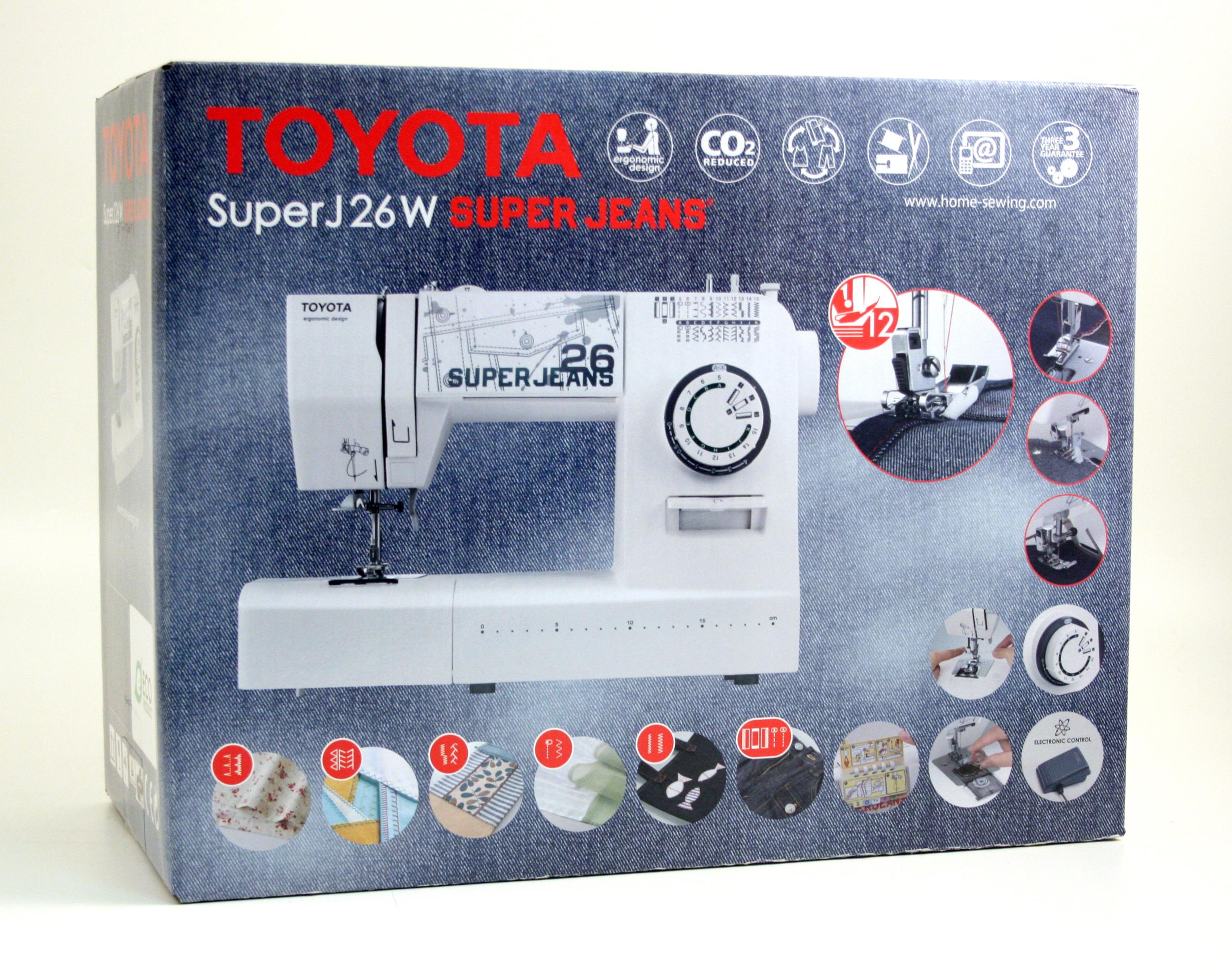 šicí stroj Toyota Super Jeans 26 bílý-8