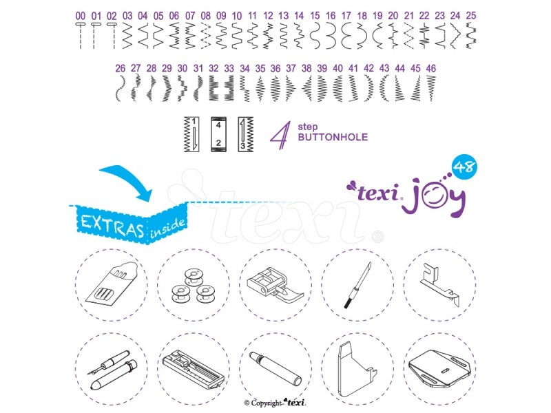 šicí stroj Texi Joy 48-2