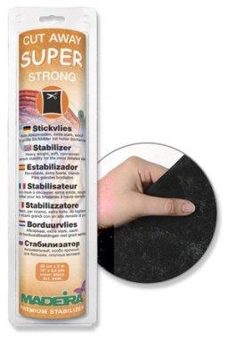 vliselín k odstřižení Madeira 30cmX5m, extra silný,černý