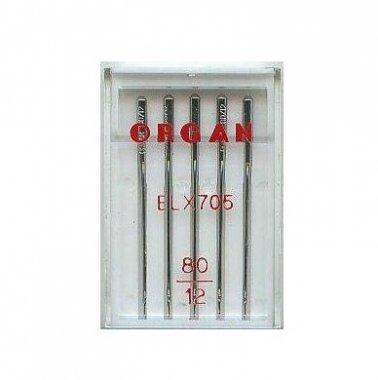 jehly pro coverlock Organ ELx705 80-5ks chromované