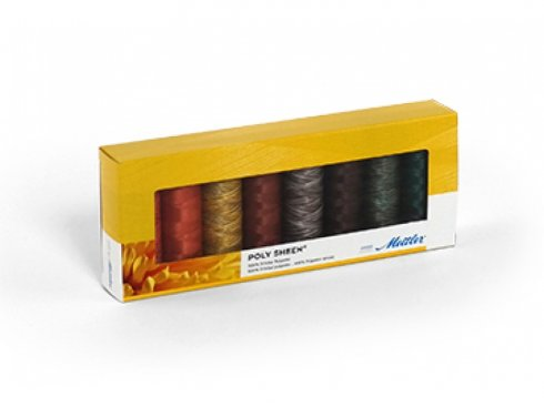 sada nití Mettler Poly Sheen - Autumn Kit 8ks