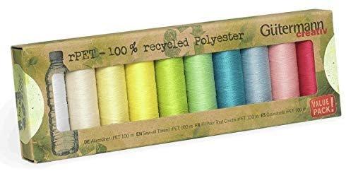 sada nití Gütermann 10ks 100%PET recyklovaný polyester