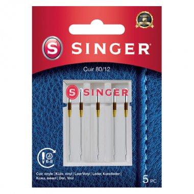 Jehly na kůži Singer 5x80