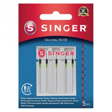 Jehly na mikrovlákno Singer 5x70