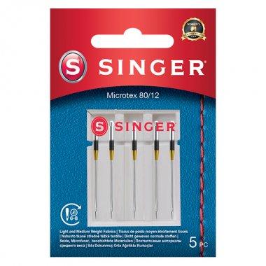 Jehly na mikrovlákno Singer 5x80