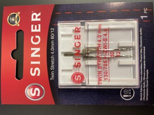 Dvojjehla na streč Singer 4 mm 1x80