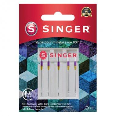 Jehly titanové na quiltování Singer 5x80