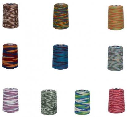 Polyesterová nit melírovaná Viga 80 multicolor