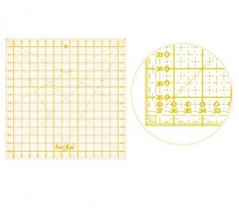 patchworkové pravítko 38x38cm žlutá osnova