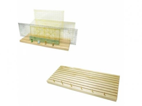 dřevěný box na pravítka - 9drážek