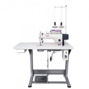 1-jehlový šicí stroj Texi s jehelním podáváním, servomotorem,osvětlením(lehké střední materiály)-kompletní