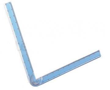 patchworkové pravítko rohové 6/12 inch