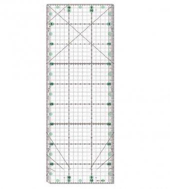 patchworkové pravítko 15x45cm - zelené značení