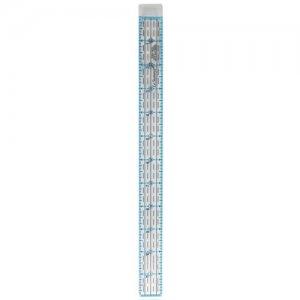 patchworkové pravítko 12x1 palců modročerné rysky