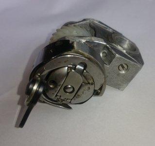 chapač Veritas-komplet Famula 7mm těleso+vložka+kroužek+držák celého tělesa s ozubeným převodem+cívkové pouzdro