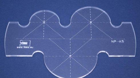 Quiltovací pravítko kruhy NP-K5