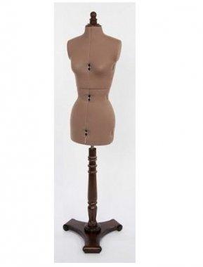 krejčovská panna Juliet B/M + dřevěný vyřezávaný stojan