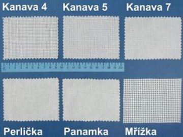 kanava bílá velikost 5,bavlna-