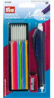 křídová tužka na látky se sadou barevných kříd