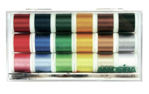 vyšívací nitě Box Rayon 18x200m