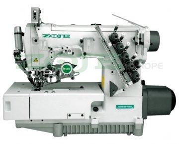 průmyslový coverlock Zoje ZJ2500A-156M-BD spodem vrchem krycí