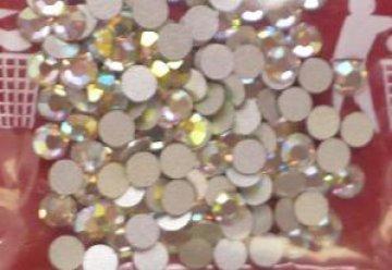 3mm nalepovací kamínky broušené AB-