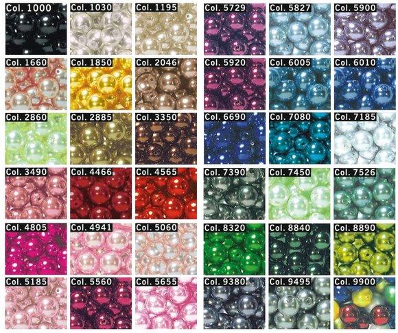 skleněné perly našívací 6mm-100ks různé barvy-