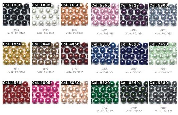 skleněné perličky našívací 8mm-44ks různé barvy-