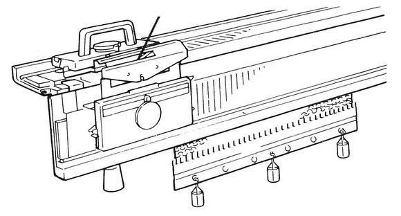 pletací stroj Silver-Reed SK-150 + druhé lůžko SR-150-