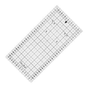 patchworkové pravítko 6,5x12 palců černé popisky