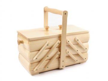 košík na šicí potřeby rozkládací malý,přírodní