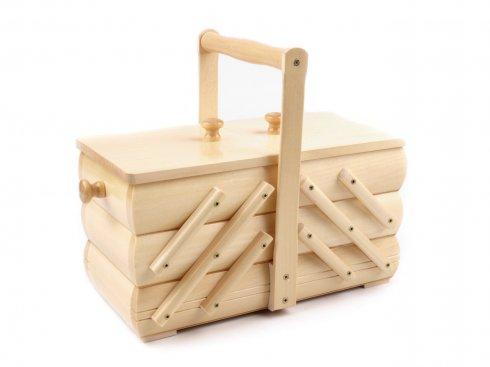 košík - kazeta na šicí potřeby rozkládací,střední,přírodní