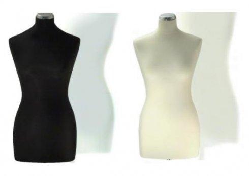 aranžérská panna ELITE B 36-38 bílá/černá