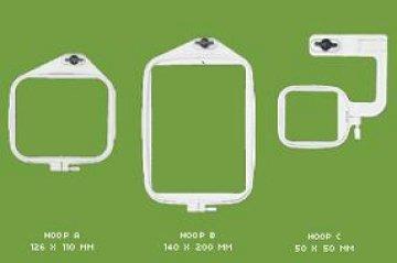 vyšívací rámeček HOOP C JANOME na volné rameno 50x50mm-