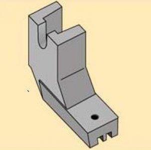 patka na skrytý zip umělá - vysoká nožička